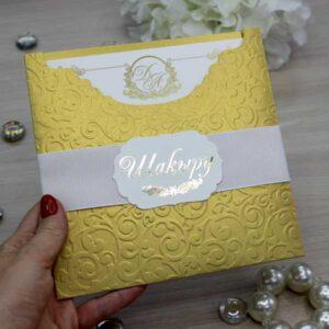 золотые свадебные пригласительные