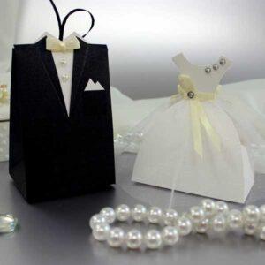 Бонбоньерки свадебная пара