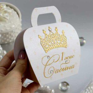 Бонбоньерки сумочки с короной